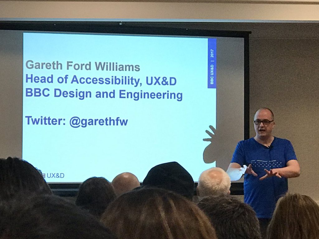 Gareth Ford Williams talking fonts and accessibility